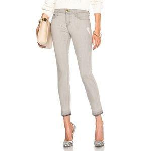 Current/Elliot Gray Stiletto Raw Hem Skinny Jeans